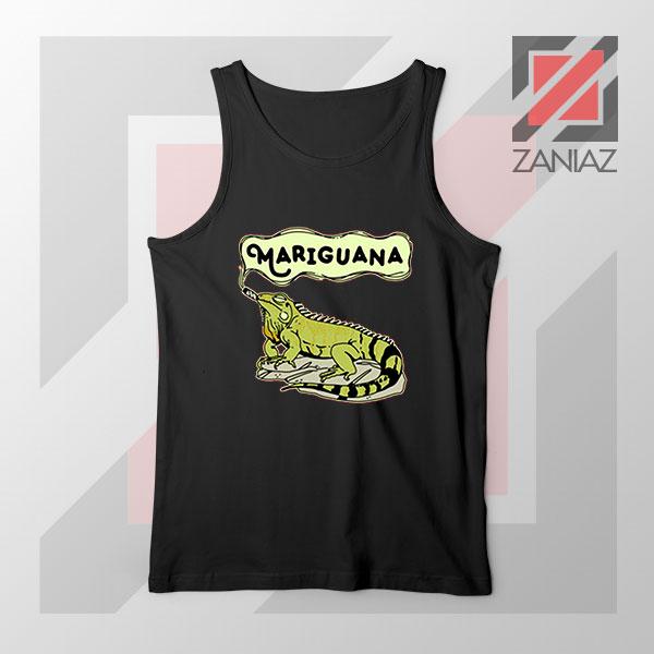 Mariguana Smoke Animal Black Tank Top
