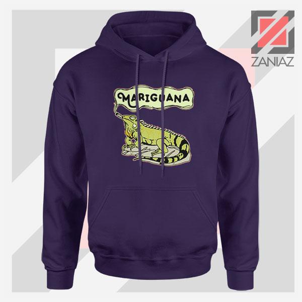 Mariguana Smoke Animal Navy Blue Hoodie
