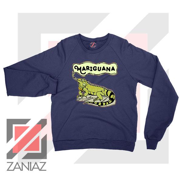 Mariguana Smoke Animal Navy Blue Sweatshirt