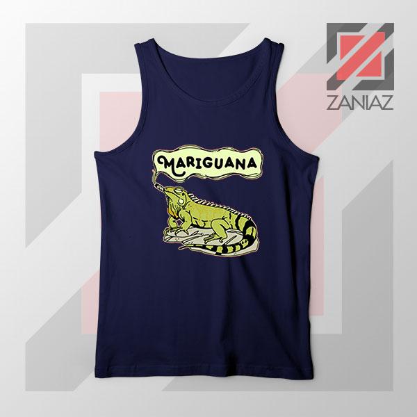Mariguana Smoke Animal Navy Blue Tank Top