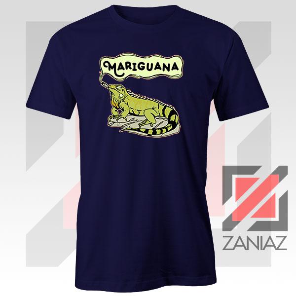Mariguana Smoke Animal Navy Blue Tshirt