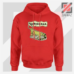 Mariguana Smoke Animal Red Hoodie