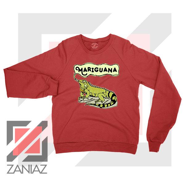Mariguana Smoke Animal Red Sweatshirt