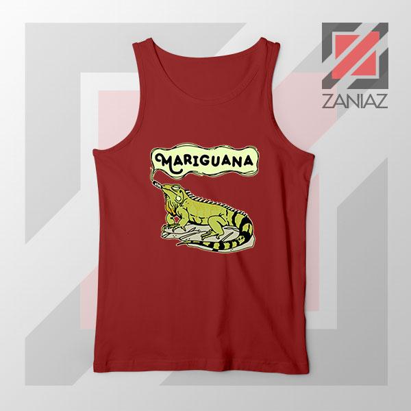 Mariguana Smoke Animal Red Tank Top