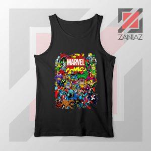 Marvel Comic Hero Collage Black Tank Top