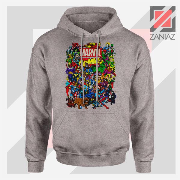 Marvel Comic Hero Collage Sport Grey Hoodie