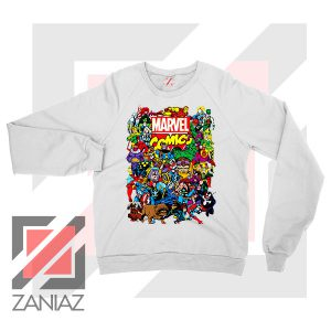 Marvel Comic Hero Collage Sweatshirt