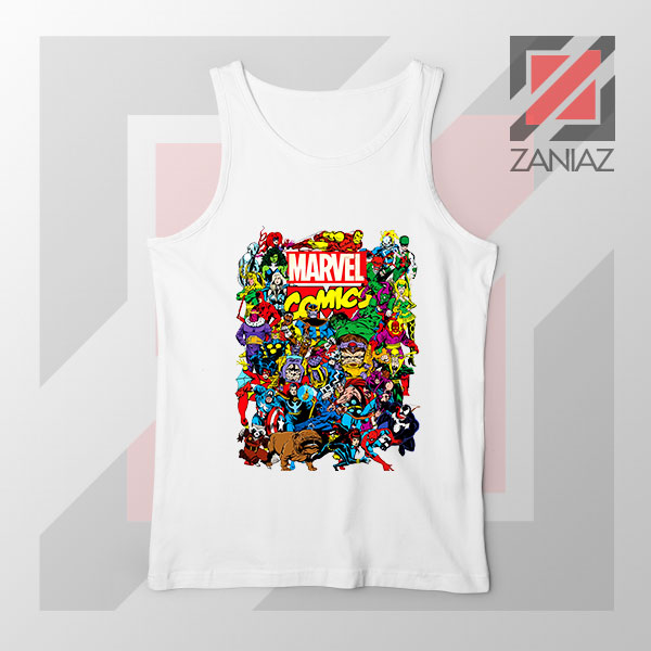 Marvel Comic Hero Collage Tank Top