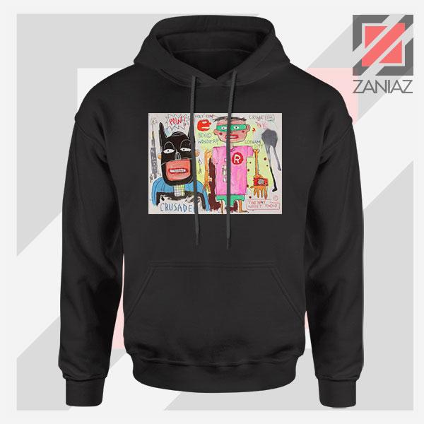 Michel Basquiat Warner Bros Art Black Hoodie