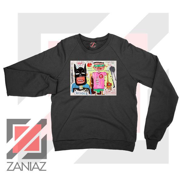 Michel Basquiat Warner Bros Art Black Sweater