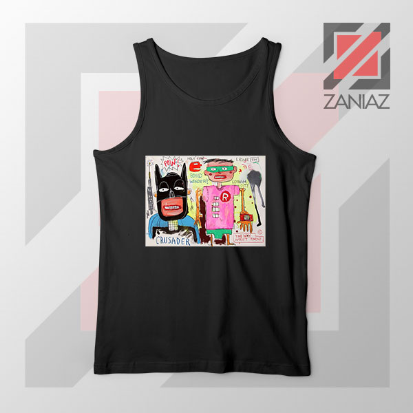 Michel Basquiat Warner Bros Art Black Tank Top