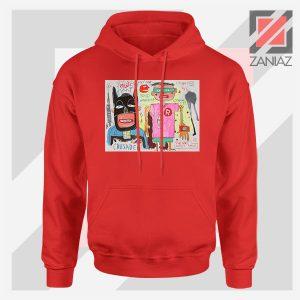 Michel Basquiat Warner Bros Art Red Hoodie
