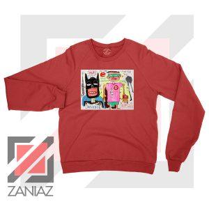 Michel Basquiat Warner Bros Art Red Sweater
