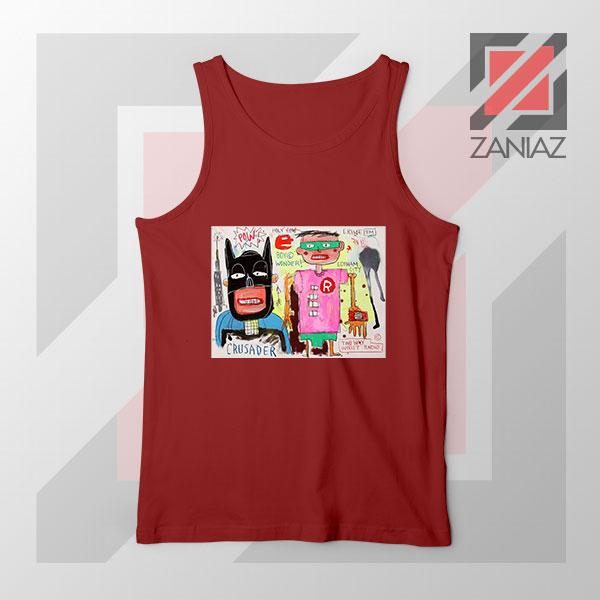 Michel Basquiat Warner Bros Art Red Tank Top