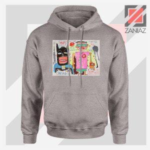Michel Basquiat Warner Bros Art Sport Grey Hoodie