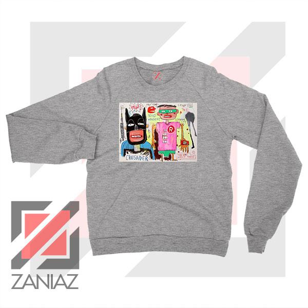 Michel Basquiat Warner Bros Art Sport Grey Sweater