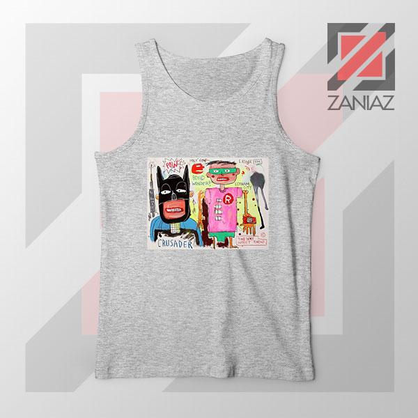 Michel Basquiat Warner Bros Art Sport Grey Tank Top