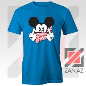 Mickey Disney Middle Finger Blue Tee