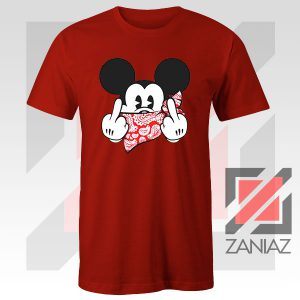 Mickey Disney Middle Finger Red Tee