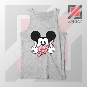 Mickey Disney Middle Finger Sport Grey Tank Top