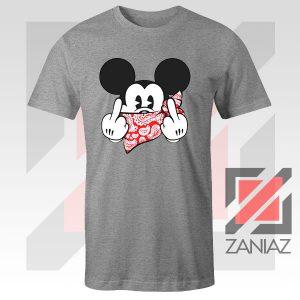 Mickey Disney Middle Finger Sport Grey Tee
