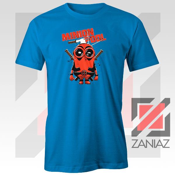 Minion Movies Deadpool Superhero Design Blue Tee