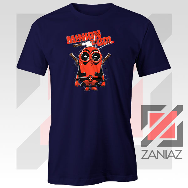 Minion Movies Deadpool Superhero Design Navy Tee