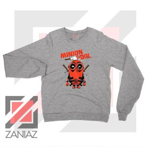 Minion Movies Deadpool Superhero Grey Sweatshirt