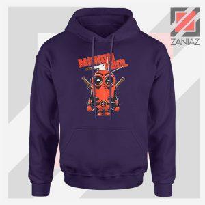 Minion Movies Deadpool Superhero Navy Blue Hoodie
