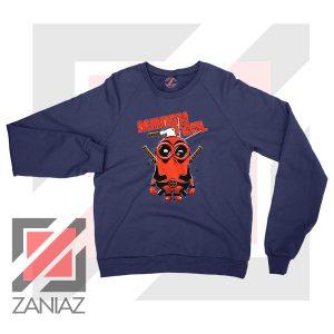 Minion Movies Deadpool Superhero Navy Blue Sweatshirt