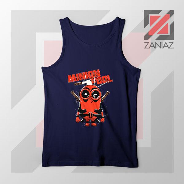 Minion Movies Deadpool Superhero Navy Blue Tank Top