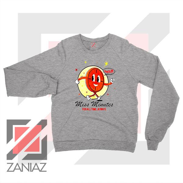 Miss Minutes TVA Mascot Sport Grey Sweatshirt