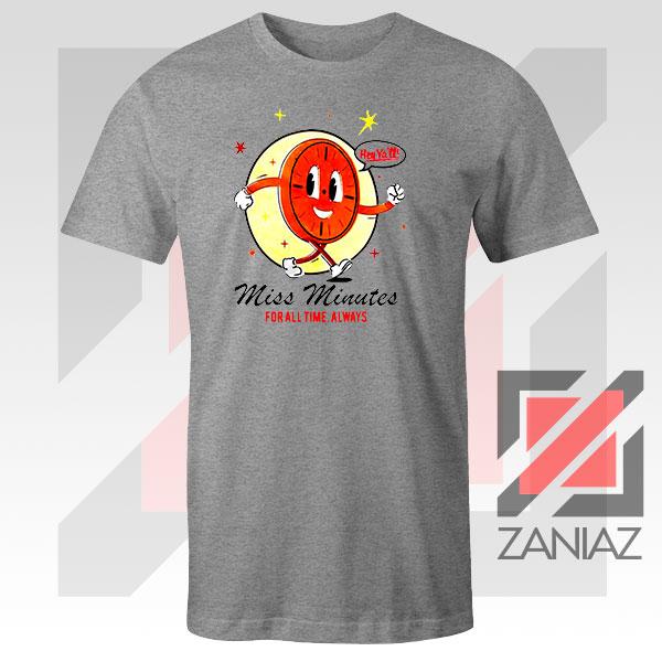 Miss Minutes TVA Mascot Sport Grey Tshirt
