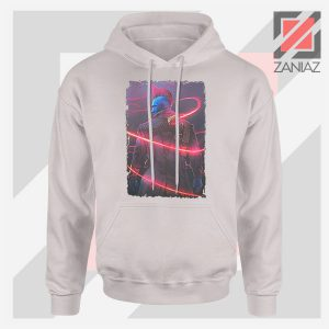 Peter Quill Father GOG Sport Grey Hoodie
