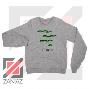 Pi Thons Symbol Math Sport Grey Sweatshirt