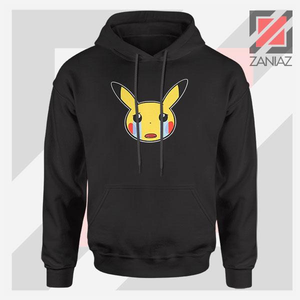Pikachu Sad Mood Black Hoodie
