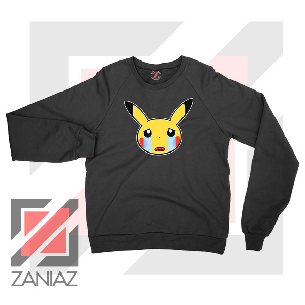 Pikachu Sad Mood Black Sweater