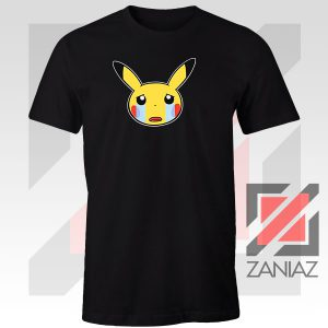 Pikachu Sad Mood Black Tshirt