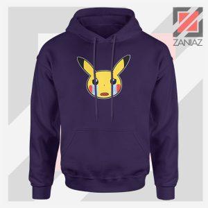 Pikachu Sad Mood Navy Blue Hoodie