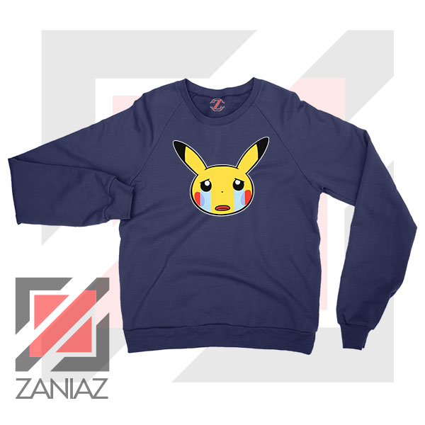 Pikachu Sad Mood Navy Blue Sweater