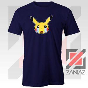 Pikachu Sad Mood Navy Blue Tshirt