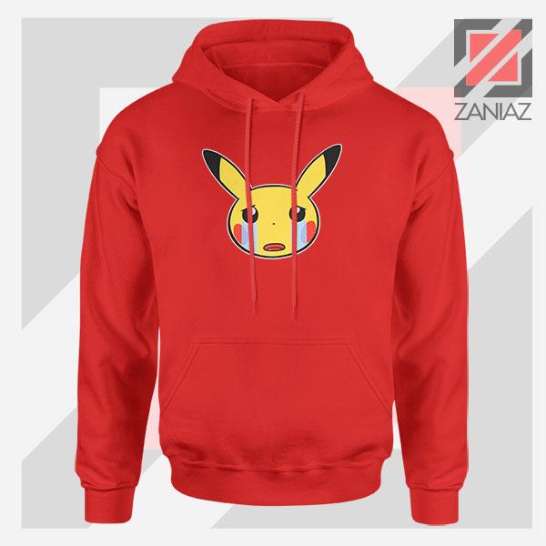 Pikachu Sad Mood Red Hoodie