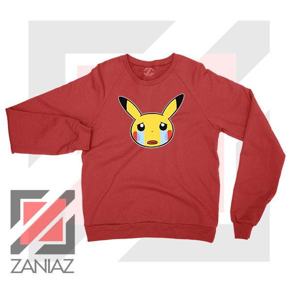 Pikachu Sad Mood Red Sweater