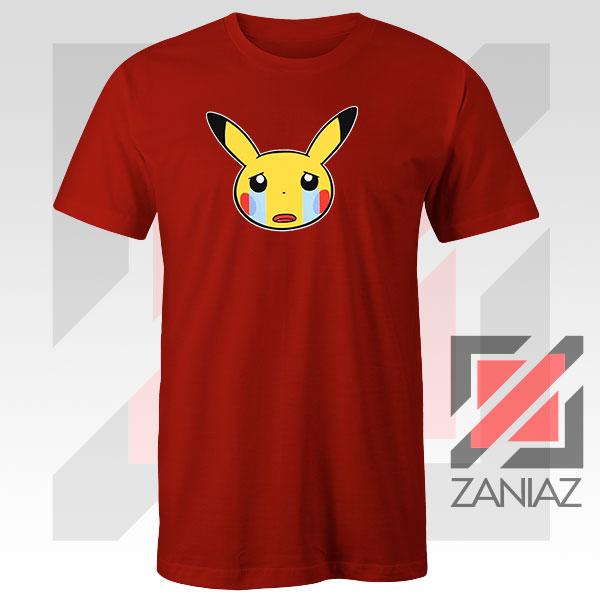 Pikachu Sad Mood Red Tshirt