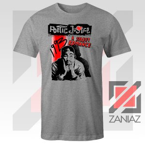 Poetic Justice Tupac Film Sport Grey Tshirt