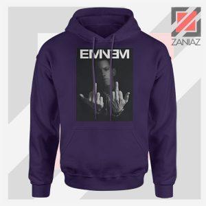 Slim Shady Eminem Poster Navy Blue Hoodie