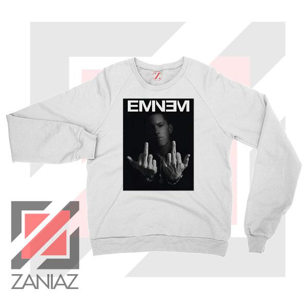 Slim Shady Eminem Poster White Sweater