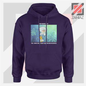 Squidward Meme Designs Navy Blue Hoodie