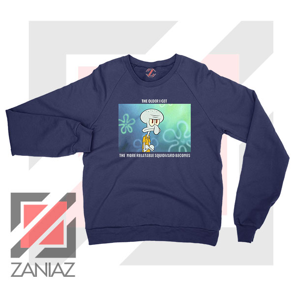 Squidward Meme Designs Navy Blue Sweatshirt