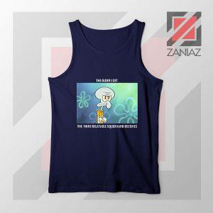 Squidward Meme Designs Navy Blue Tank Top